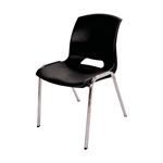 Cadeira Malba Preta em Polipropileno e Base em Aço Cromado