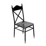 Cadeira de Metal Vintage Preta Oldway - 92x52 cm