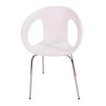 Cadeira One Branca em Polipropileno e Base em Aço Cromado