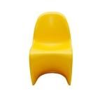 Cadeira Panton Kids Amarela em ABS