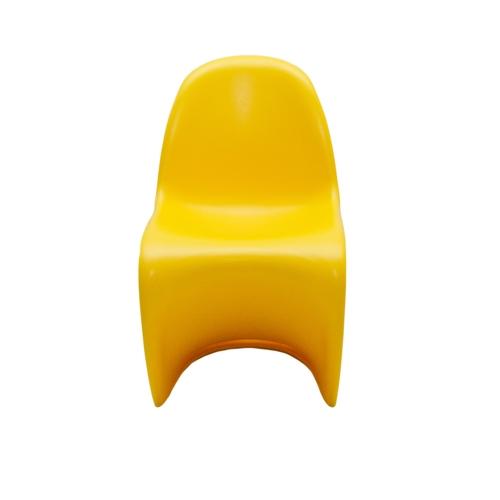 Cadeira Panton Kids Amarela em ABS - 56x33 cm