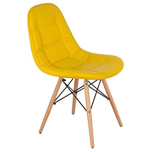 Cadeira Pé Palito Amarela Fullway - 85x47x52cm