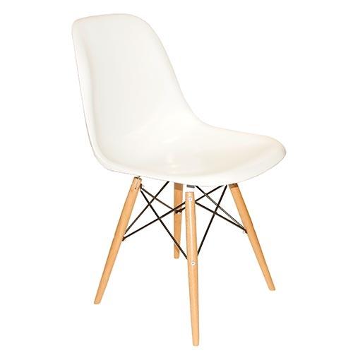 Cadeira Charles Eames Eiffel - Pé Palito - Branca em ABS - 80x47 cm