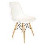 Cadeira Charles Eames Eiffel Branca em ABS - 80x47 cm
