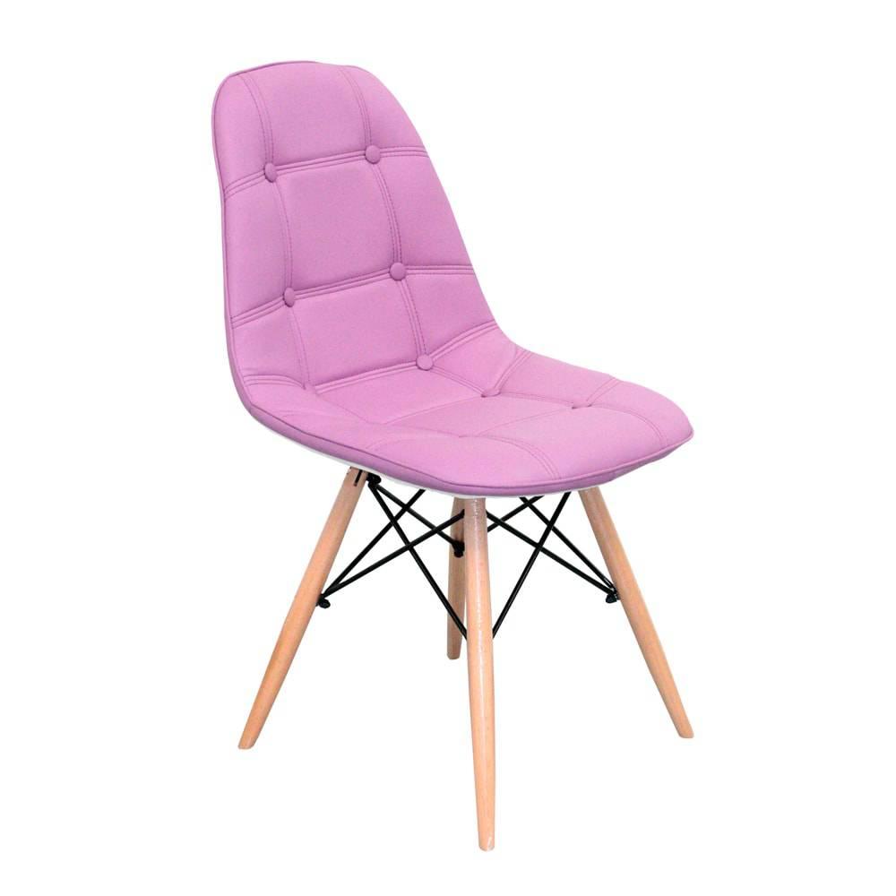Cadeira Pé Palito Lilás Fullway - 85x47x52cm