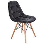 Cadeira Pé Palito Preta Brilho Fullway - 85x52 cm