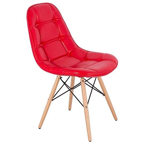 Cadeira Pé Palito Vermelha Brilho Fullway - 85x52cm