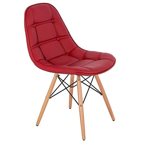 Cadeira Pé Palito Vermelho Fullway - 85x47x52cm