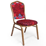 Cadeira Pin UP Vermelha em Aluminio e Tecido