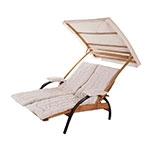 Cadeira de Praia 2 Lugares Summer Madeira/Algodão