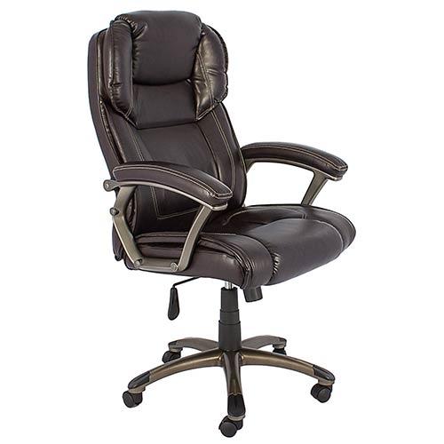 Cadeira Presidente Marrom Escuro Fullway - 123x68x71cm