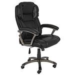Cadeira Presidente Preta Fullway - 123x68x71cm
