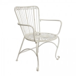 Cadeira Provençal Bellise Branca com Apoio p/ Braço em Ferro