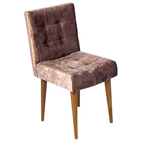 Cadeira Quadrada Marrom Classic - Pé Palito Fullway - 80x44 cm