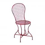 Cadeira Simian Vermelha Quadriculada Vazada em Ferro