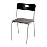 Cadeira Star Preta em Polipropileno e Base em Aço