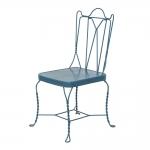 Cadeira Tarson Azul em Ferro - 92x53 cm
