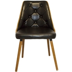 Cadeira Vergada Retrô Preto Pés de Madeira Fullway - 81x52 cm