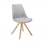 Cadeira Vivence Pé Palito Cinza com Assento Estofado