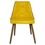 Cadeira Walnut Vergada Amarela - Pés em Madeira Fullway - 81x52 cm