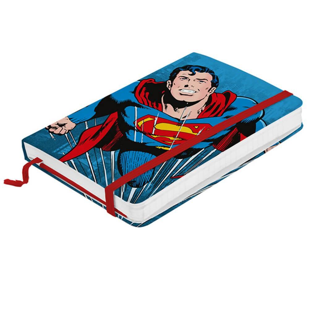 Caderneta de Anotação DC Comics Superman Flying Fundo Azul - Urban - 14x9,5 cm