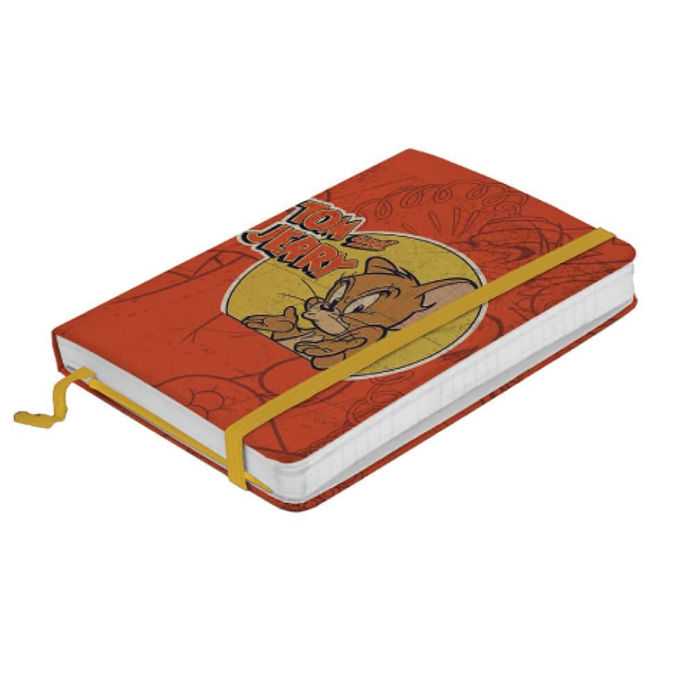 Caderneta de Anotação Hanna Barbera Tom And Jerry Mad Mouse Fundo Laranja - Urban - 14x9,5 cm
