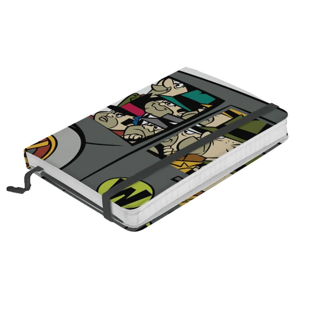 Caderneta de Anotação Hanna Barbera Wacky Race Car Of Gangsters Cinza - Urban - 14x9,5 cm