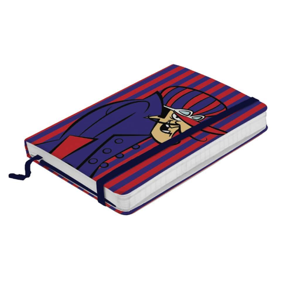 Caderneta de Anotação Hanna Barbera Wacky Race Dick Vigarista Fundo Listrado - Urban - 21x14 cm