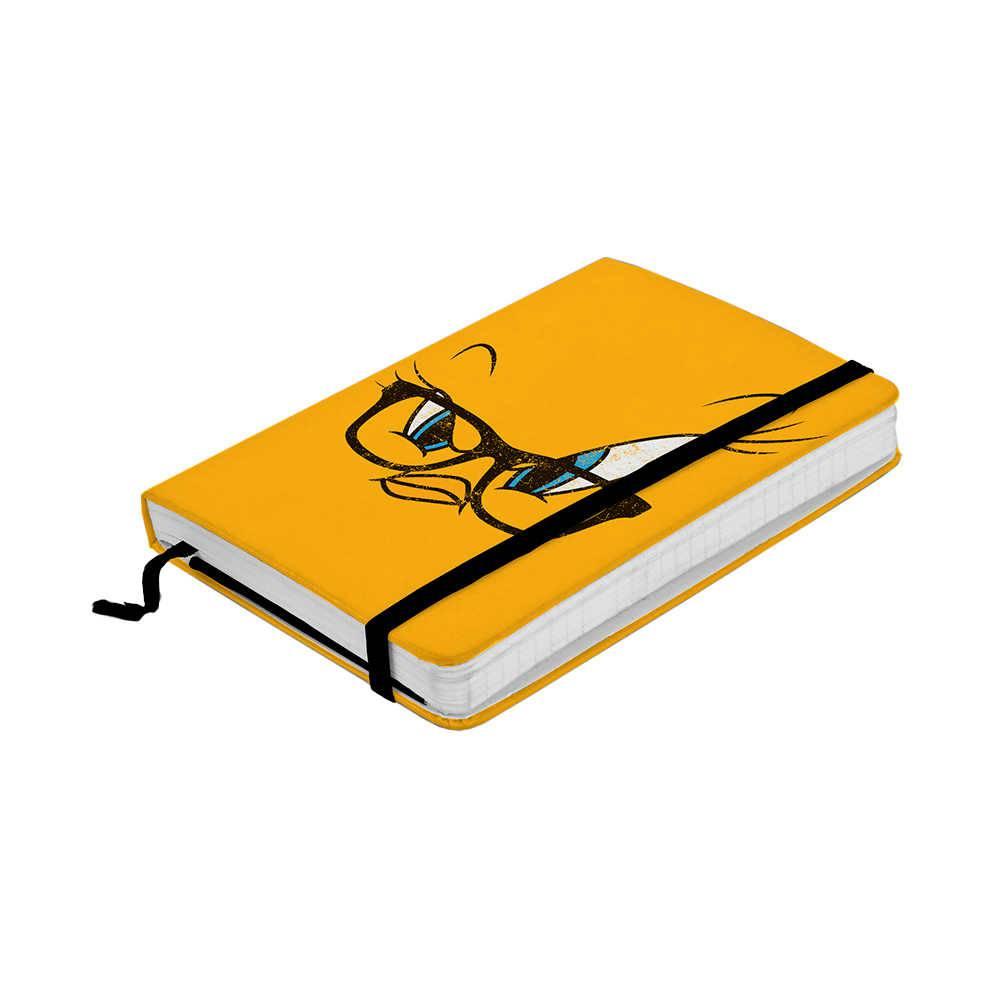 Caderneta de Anotação Looney Tunes Tweety Big Face Amarelo 100 Folhas - 14x9,5 cm