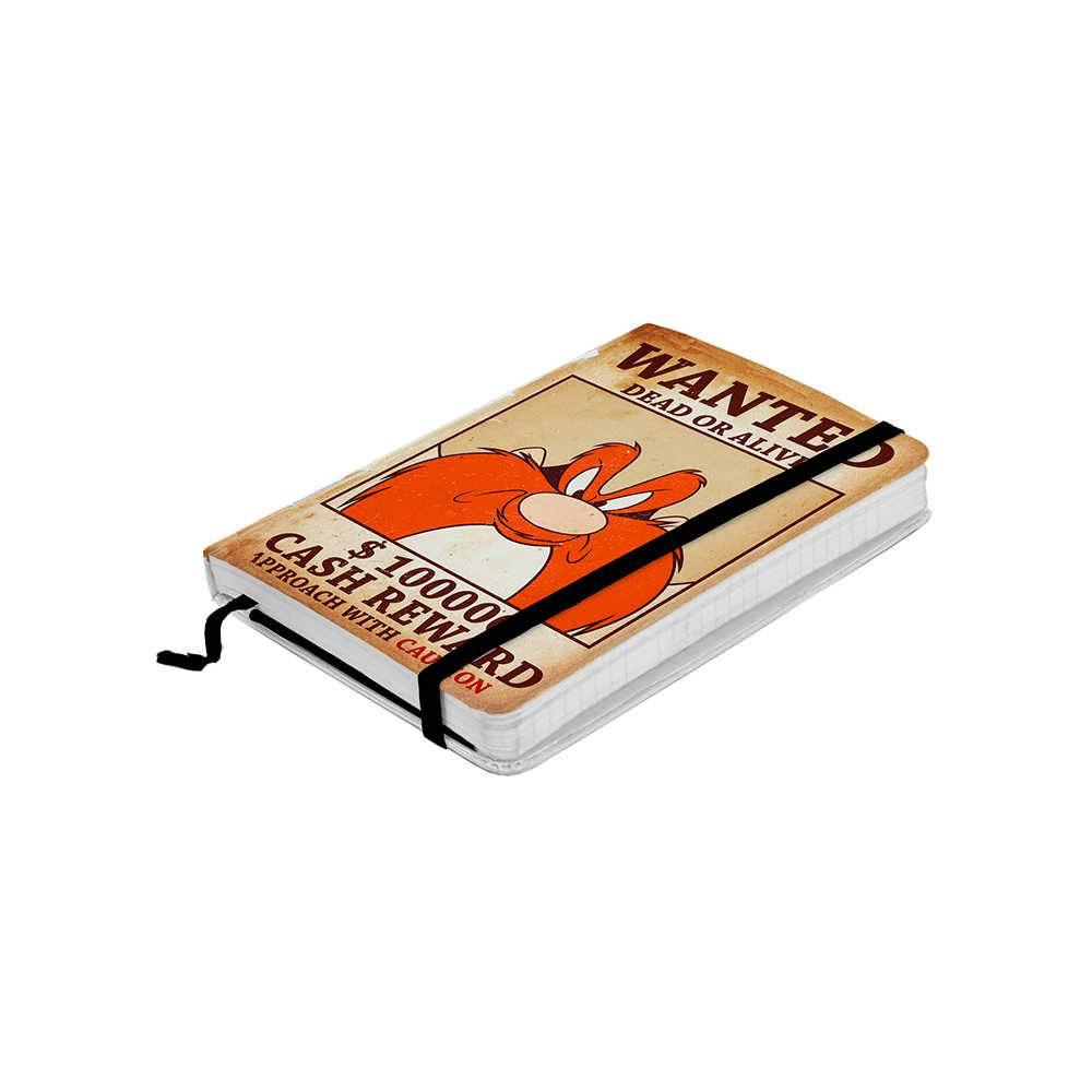 Caderneta de Anotação Looney Tunes Yosemite Wanted Colorido 100 Folhas - 14x9,5 cm