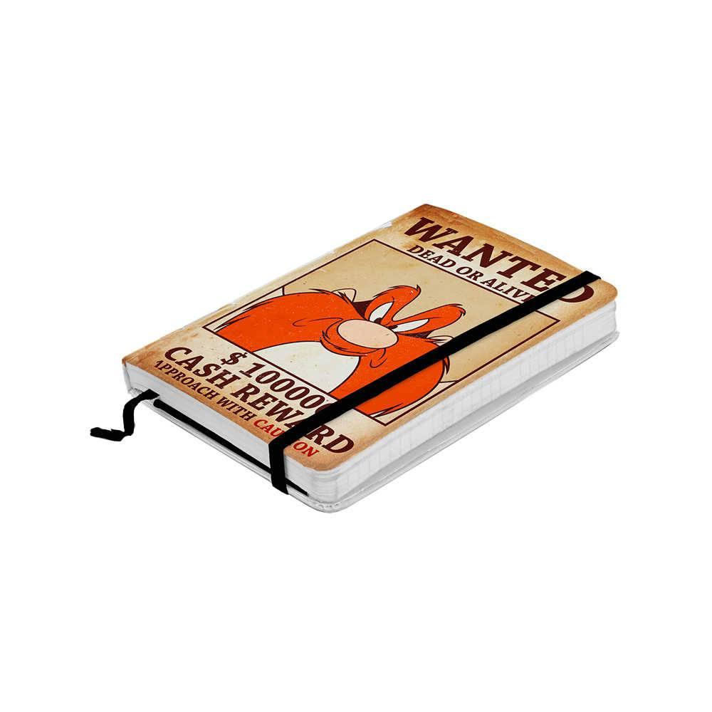 Caderneta de Anotação Looney Tunes Yosemite Wanted Colorido 100 Folhas - 21x14,8 cm