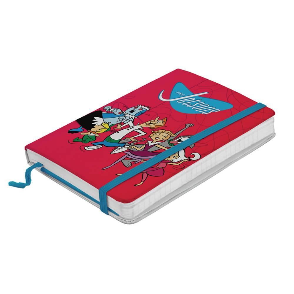 Caderneta de Anotações Hanna Barbera The Jetsons Happy Family Fundo Vermelho - Urban - 14x9,5 cm
