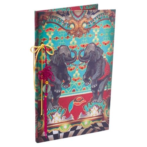 Caderno Abracadabra Elefante em Tecido - 31x21 cm