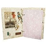 Caderno de Anotação Bird Eiffel Paris Oldway - 21x14 cm
