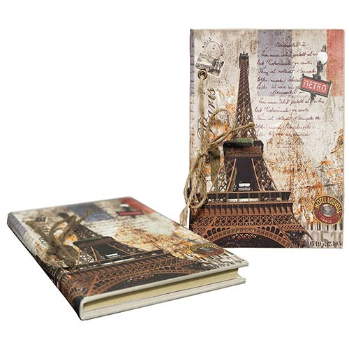 Caderno de Anotação Eiffel Metrô Oldway - 21x14 cm