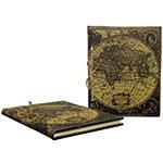 Caderno de Anotação Mapa Mundi Retrô Oldway