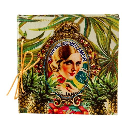 Caderno de Anotações Brasil Chic Abacaxi - 17x17 cm
