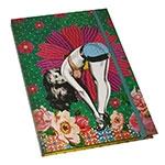 Caderno de Anotações - Capa Dura - Pin Up Verde