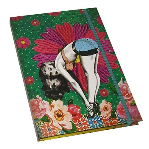 Caderno de Anotações - Capa Dura - Pin Up Verde - 19x14 cm