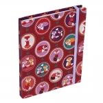 Caderno de Anotações Raposinhas Romantic Bordô Revestido em Courino - 19x14 cm