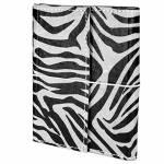 Caderno de Anotações Zebrinha Preto e Branco Capa em Couro Sintético - 15x12 cm