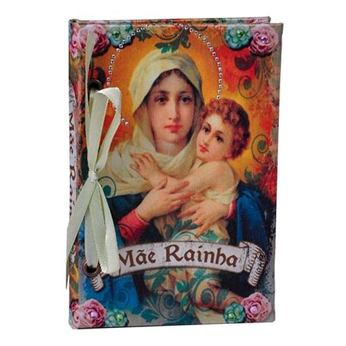Caderno Mãe Rainha em Tecido - 15x10 cm