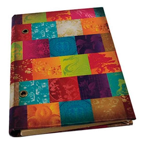 Caderno Patchwork em Tecido - 18x12 cm