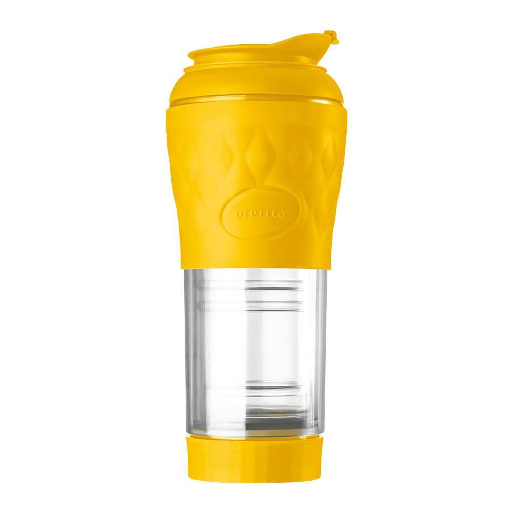 Cafeteira Pressca 350 ml Amarelo Acapulco - 22,5x9 cm