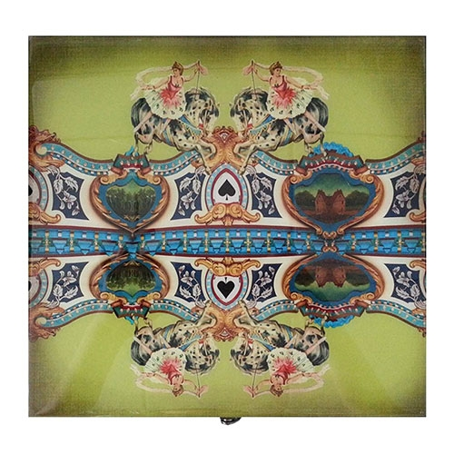 Caixa Abracadabra Bailarina em Madeira - 26x25 cm