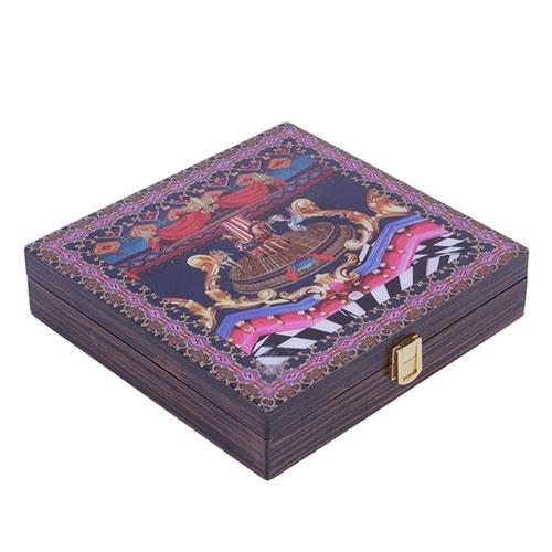 Caixa Abracadabra Carrossel em Madeira - 26x25 cm