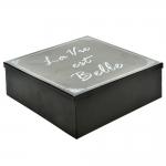 Caixa de Armazenamento La Vie Preto em Metal - 24x24 cm