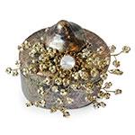 Caixa Bride Dourada em Vidro