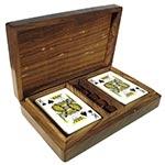 Caixa de Cards e Dados Tampo de Madeira Oldway