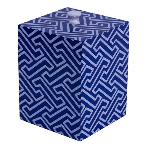 Caixa Chic Blue Grande em Metal - 18x14 cm